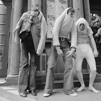 "John Cleese, pictured above in 1976 with Monty Python's Flying Circus (from left, Cleese, Michael Palin, Terry Gilliam and Terry Jones), says he worked hard to learn physical comedy by imitation — ""It was not something I was naturally gifted at,"" he sa"